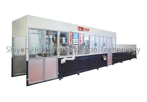 chain rail induction hardening machine